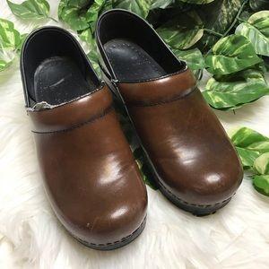 Dansko Brown Leather Clog Nursing Shoes
